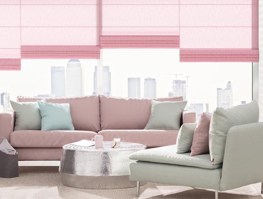 Sofa on Pastellrosa